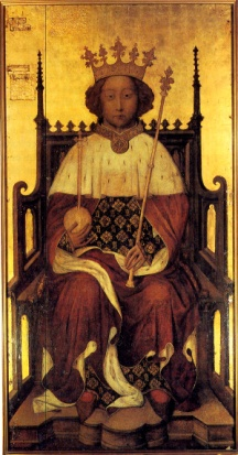 King Richard II by unknown painter, tempera on panel, circa 1390