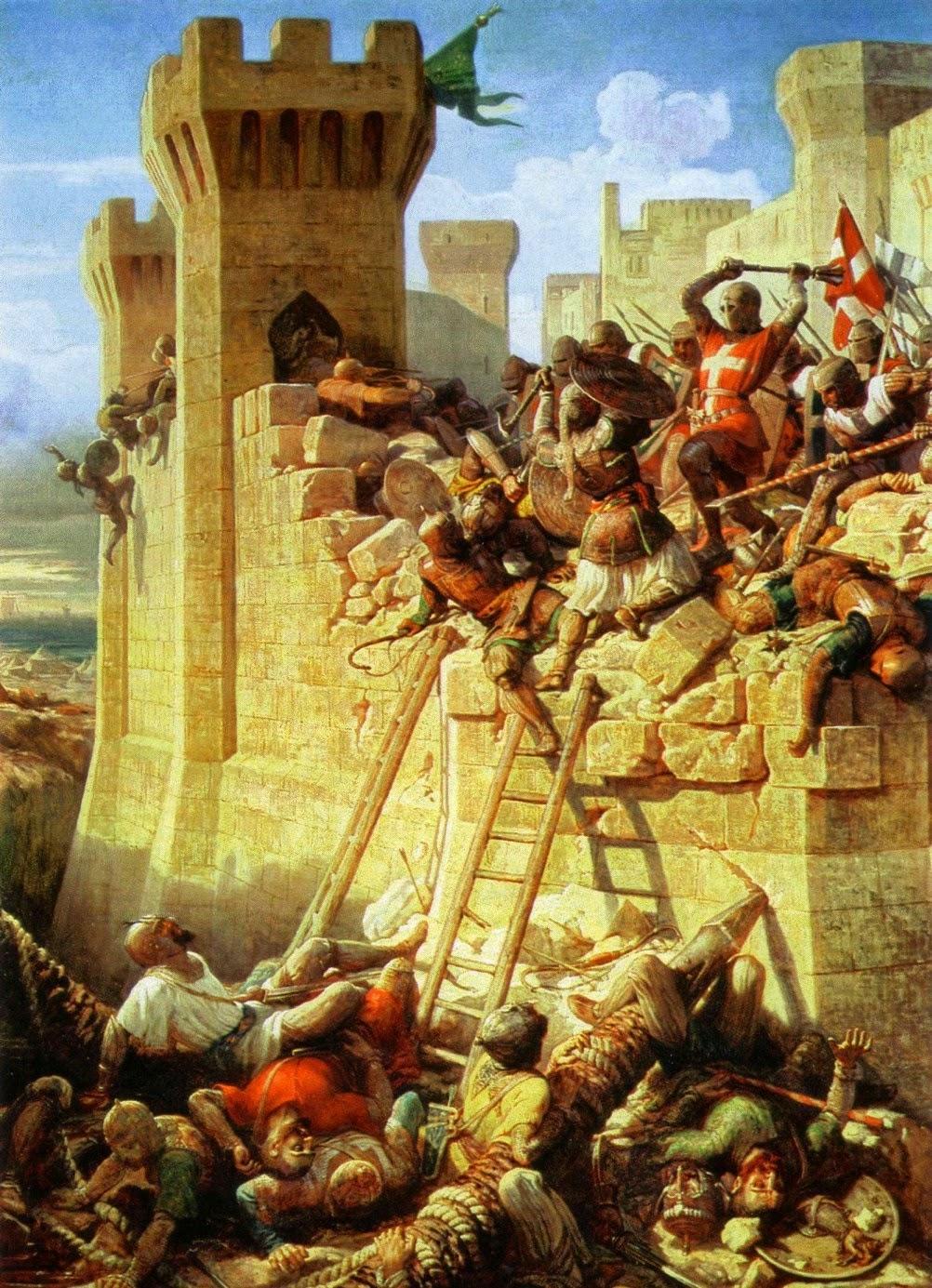 Dominique-Louis-Féréol Papety - The Siege of Acre ca. 1840