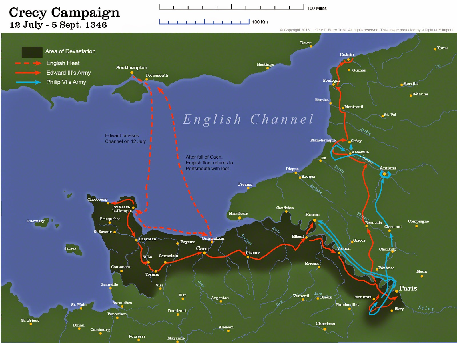 Crecy Campaign Map for posting