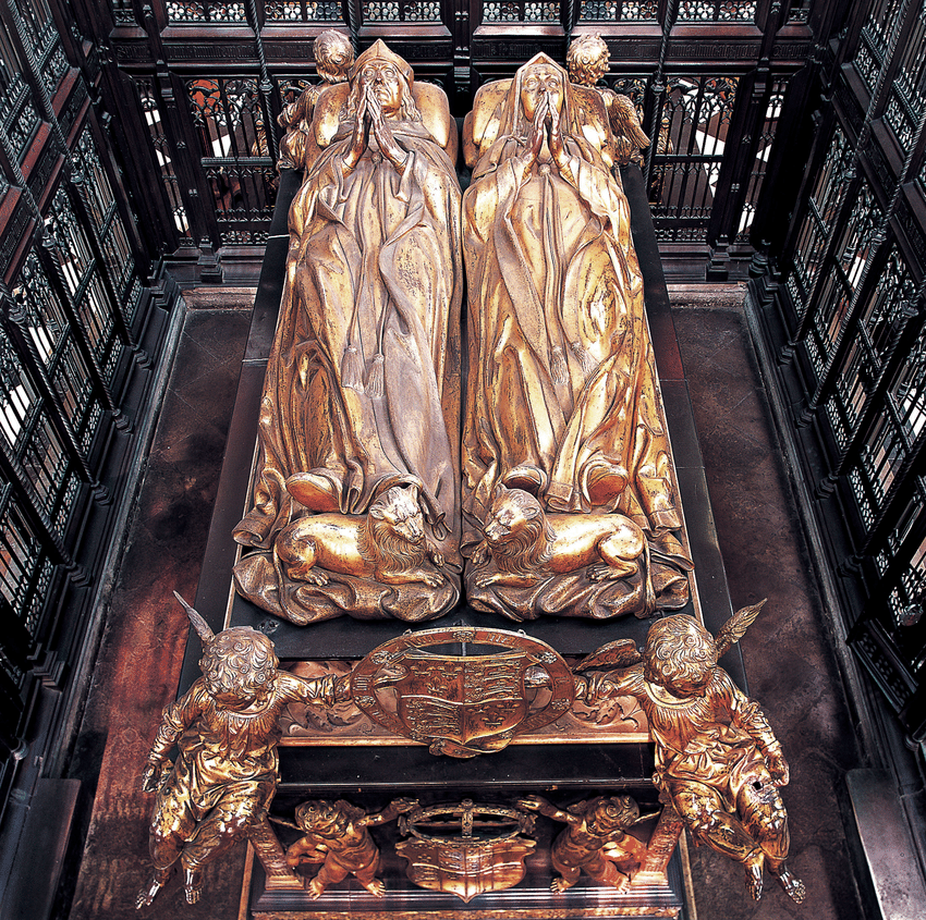 Pietro-Torrigiano-Tomb-of-King-Henry-VII-and-Queen-Elizabeth-of-York-1512-18-gilt.ppm
